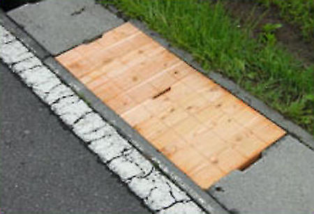 木製側溝蓋